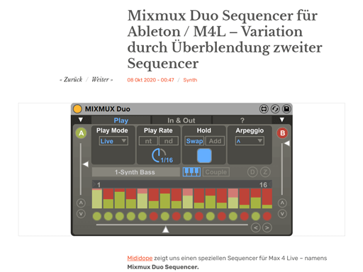 Review on sequencer.de